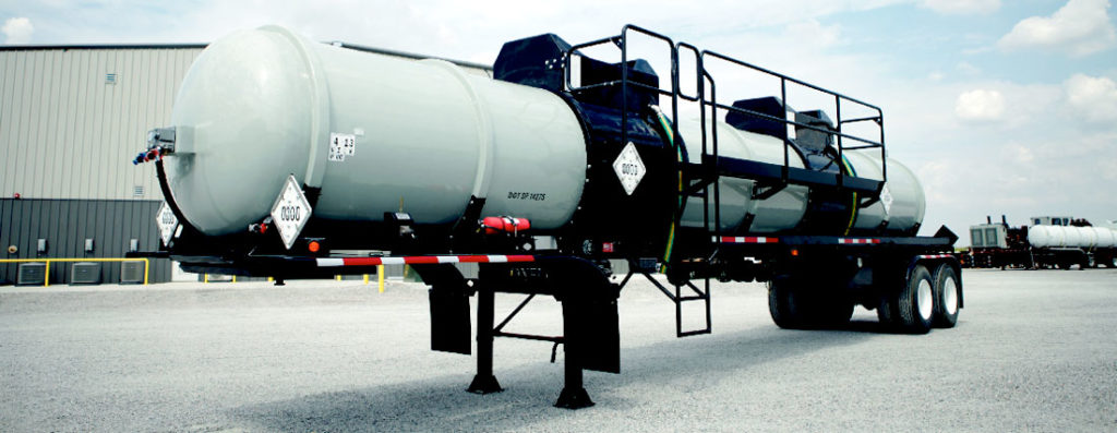 Dual Compartment Acid Transport FRP Tank